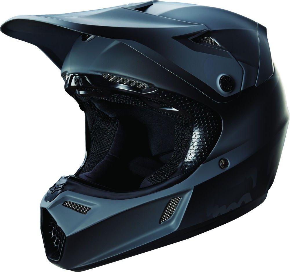 Fox Racing V3 Matte Black W Mips Youth Motocross Helmets Bike