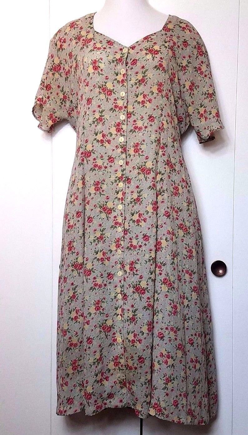 Cool awesome vintage floral roses button down short sleeve