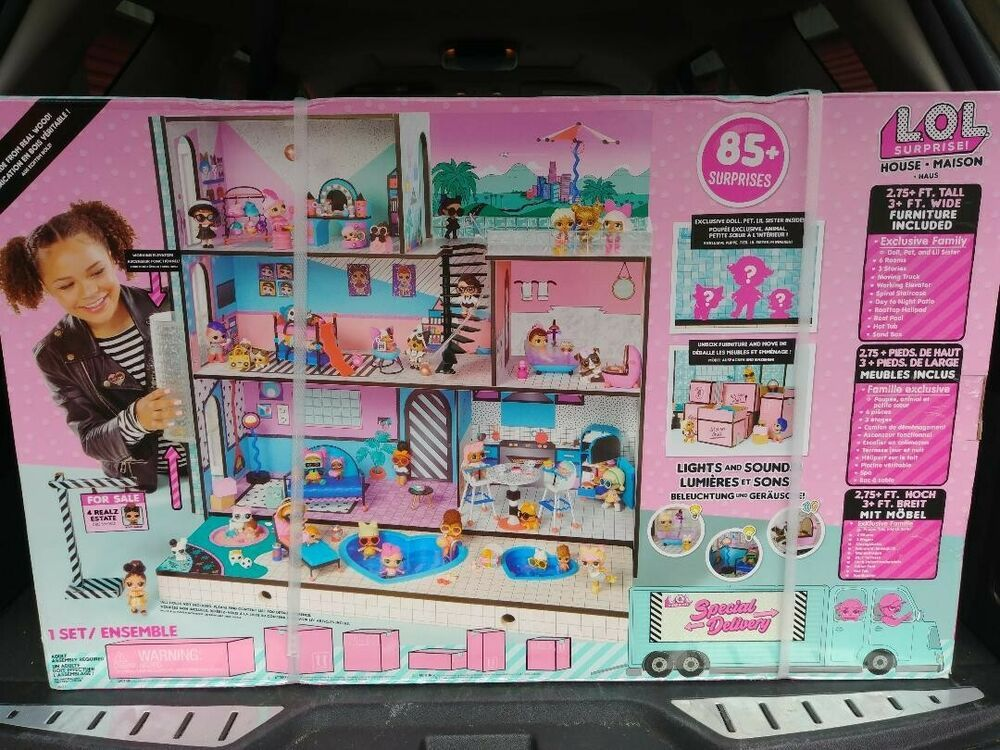 Surprises Wooden Multi Story Colorful Girls New Lol Surprise Doll House With 85