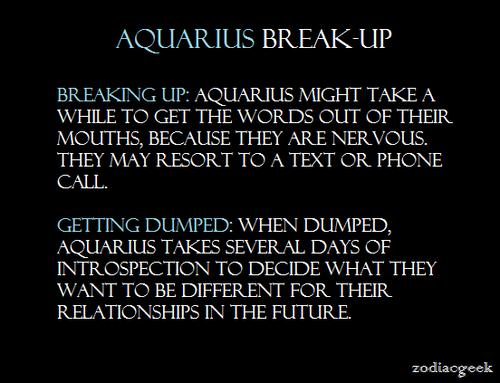 Aquarius: Break Ups (Zodiac Geek) | Personally    | Aquarius