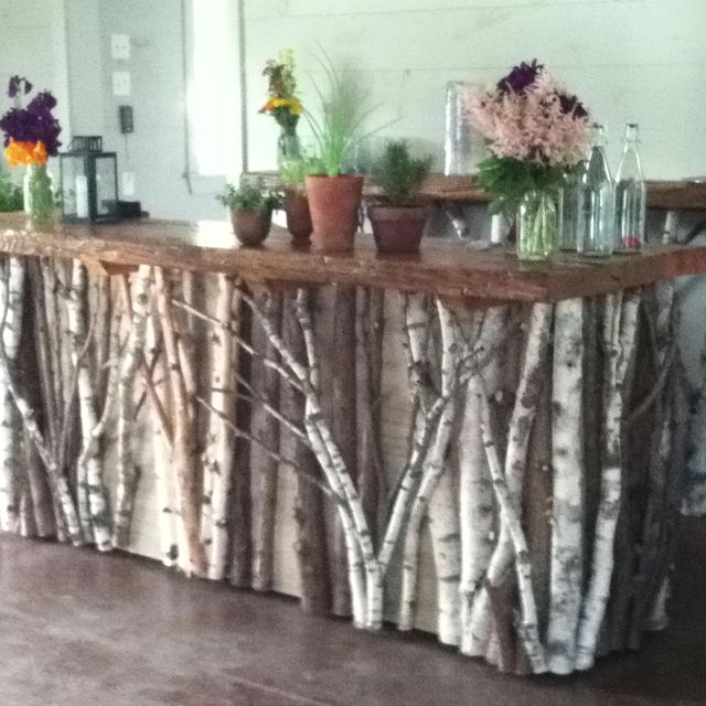 This Is Rustic Bar Table That Is Mobile. Made By Whitten Hill Studio.