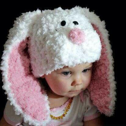 Gorro conejo | Tejido | Pinterest | Conejo, Gorros y Gorro crochet niña