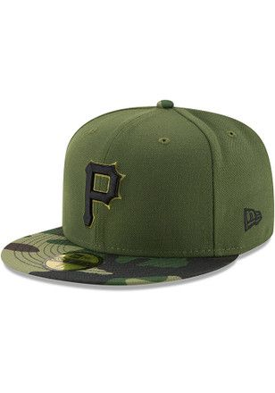 Pitt Pirates New Era Mens Green 2017 Memorial Day AC 59FIFTY Fitted ... 9406015dc392