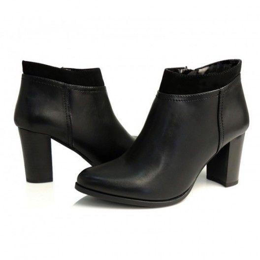 75cb7c712875 Luxusné členkové topánky pre dámy v čiernej farbe so zapínaním na boku…