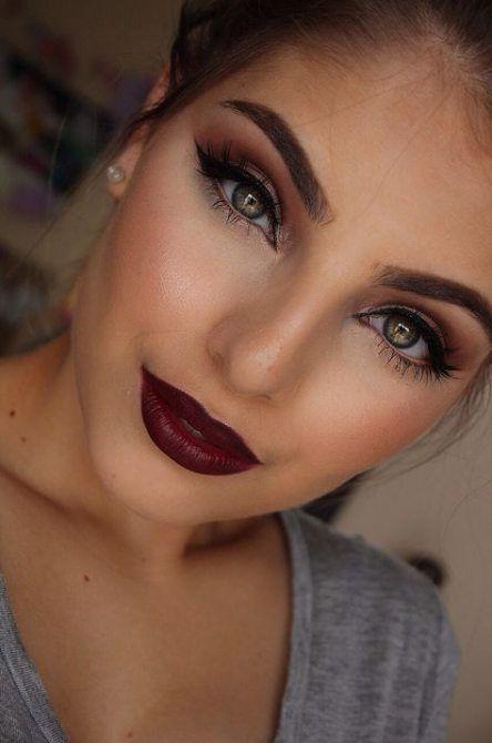Wedding Nails Burgundy Makeup Looks 23 Trendy Ideas -   10 makeup Wedding burgundy ideas