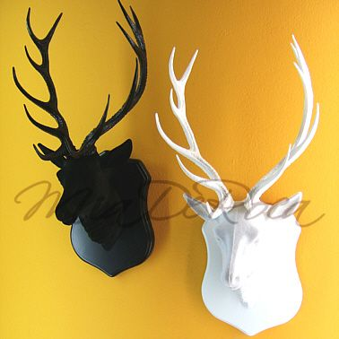 Stag Head Gisbert In White Or Black Miaderoca I Love The Lok And So Pleased I Wouldn T Have To Get A Real One Stag Head Alpine Design Stag