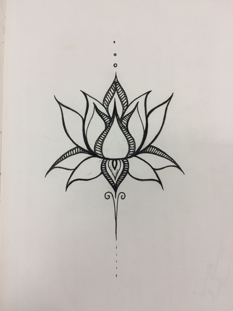 Lotus flower tattoo - Flor De Lotus Made By Me