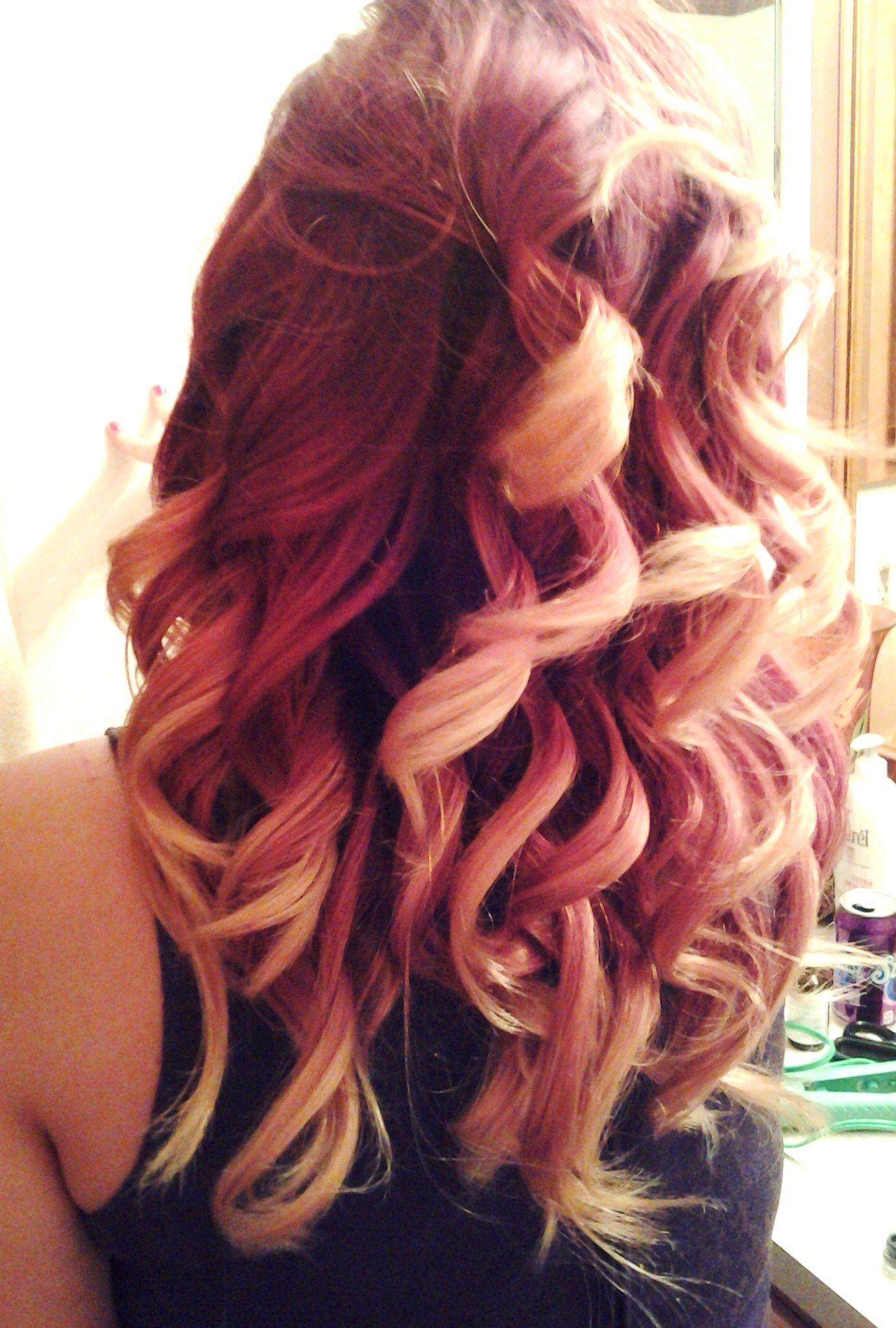 Dark To Red Ombre 2 Jpg 1381 2047 Medium Ombre Hair Hair Dark Red Hair