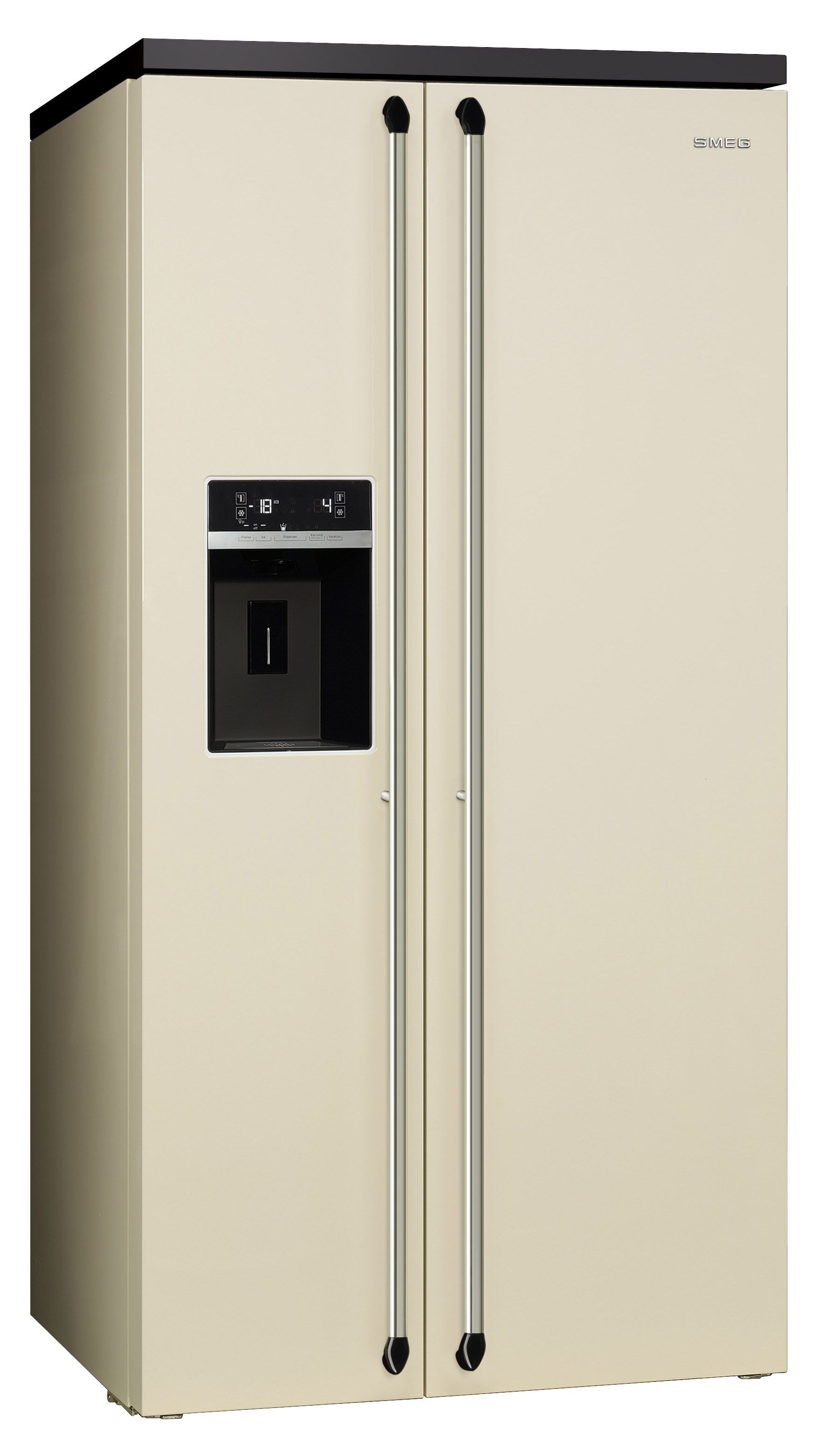 Smeg Uk Victoria American Style Side By Side Refrigerator Freezer