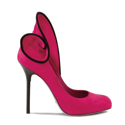 Fuchsia Pink Velvet Platform pump from Sergio Rossi collection