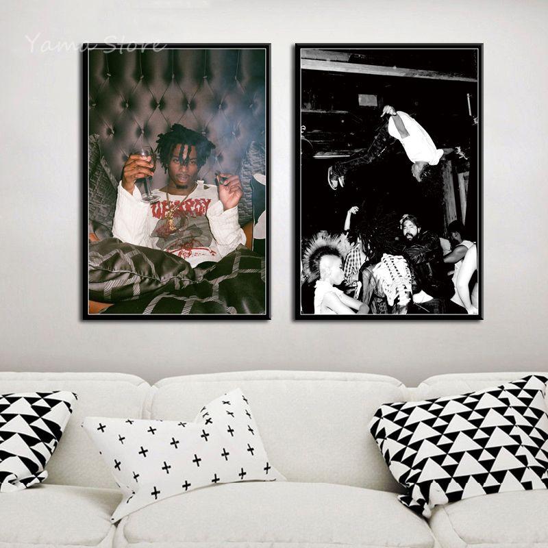 LINHAI Rip xxxtentacion Lienzo Art Poster y Wall Art Picture Print Modern Family Bedroom Decor Posters