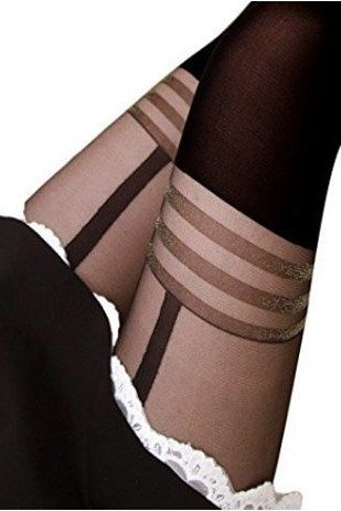 50b797075b326 Faux thigh-high tights will cause quite the stylish stir. | 26 Of The Best  Tights You Can Get On Amazon