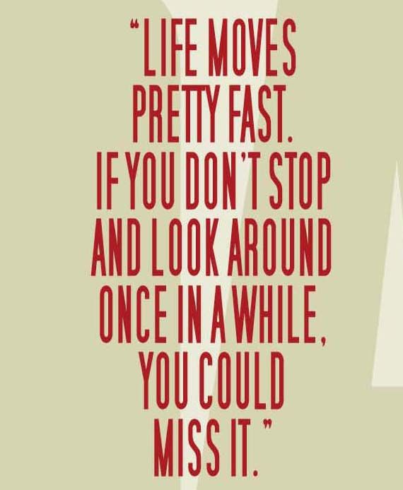 """FERRIS BUELLER'S Day Off """"Life Moves Pretty Fast"""" Movie"""