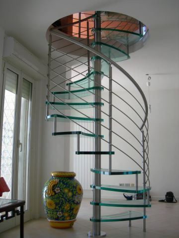 Perfect Staircase Spiral On Spiral Stairs High Quality Glass And Stainless Steel  Staircase 159 P