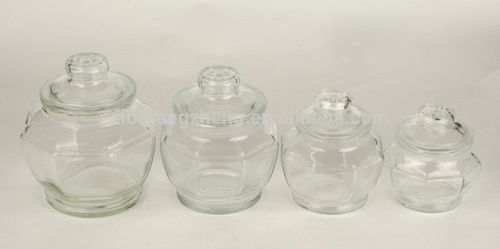 Clear Glass Food Storage Jars With Airtight Glass Lid View Decorative Glass Jars And Lids Fa Glass Food Storage Jars Glass Food Storage Decorative Glass Jars