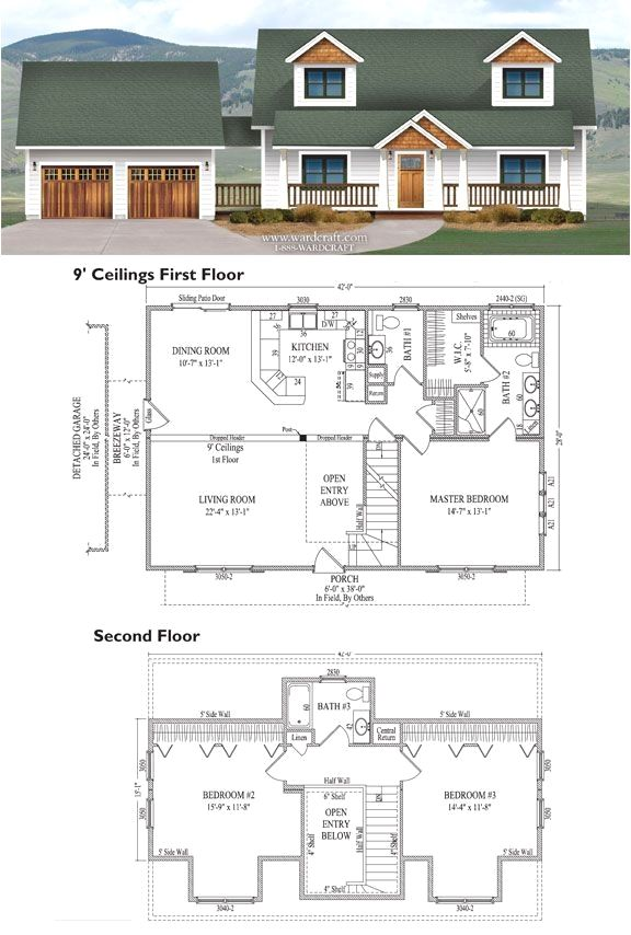 3rd Floor Addition Home Design Ideas Renovations Photos: Farmhouse Floor Plans, House Floor Plans, House