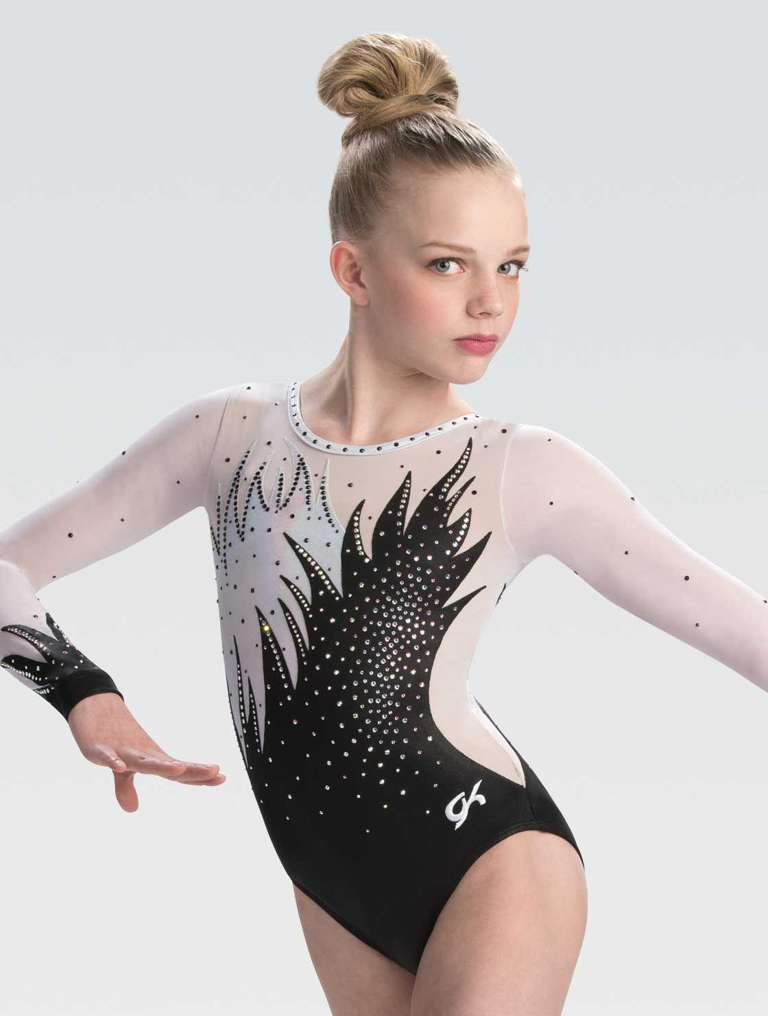 3876 Dark Elegance GK Elite Sportswear Workout Gymnastics