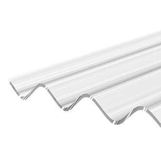 Corrapol Clear Polycarbonate Corrugated Roofing Sheet L 2 5m W 950mm T 1mm Corrugated Roofing Bbq Cover Cold Frame