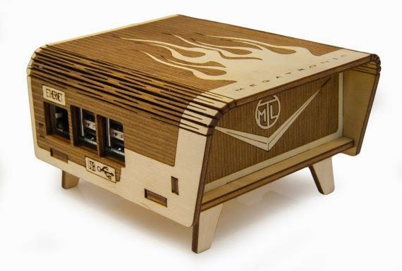 Laser cut birch Bel-Aire enclosure for Raspberry Pi | Laser