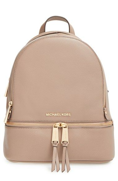 ca4358673 Free shipping and returns on MICHAEL Michael Kors 'Small Rhea Zip' Leather  Backpack at