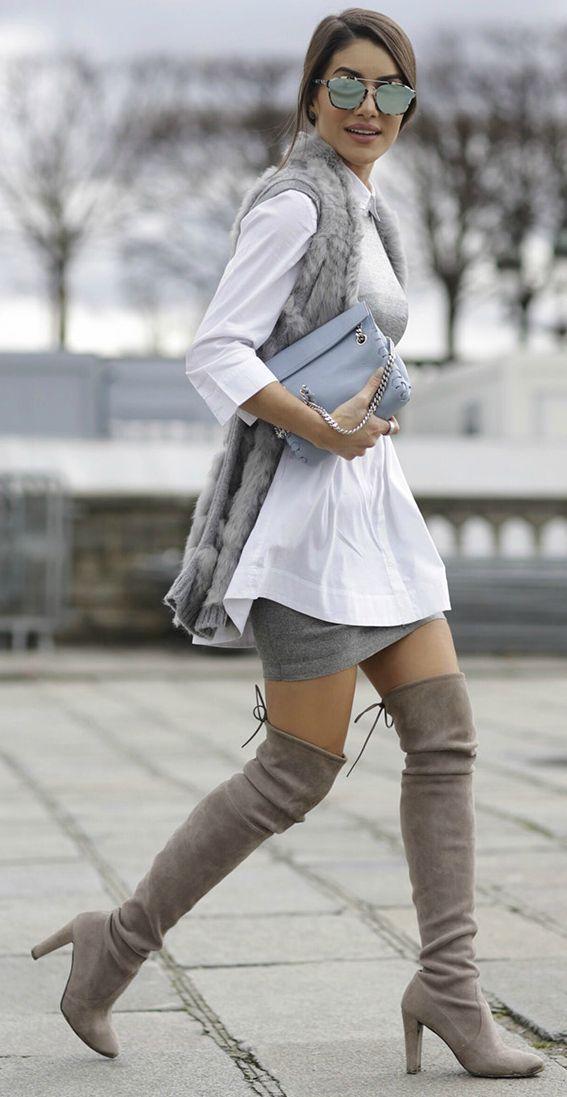 a7e8a04fc21e Thigh high boots + essential + high class + sophisticated style + Camila  Coelho + right