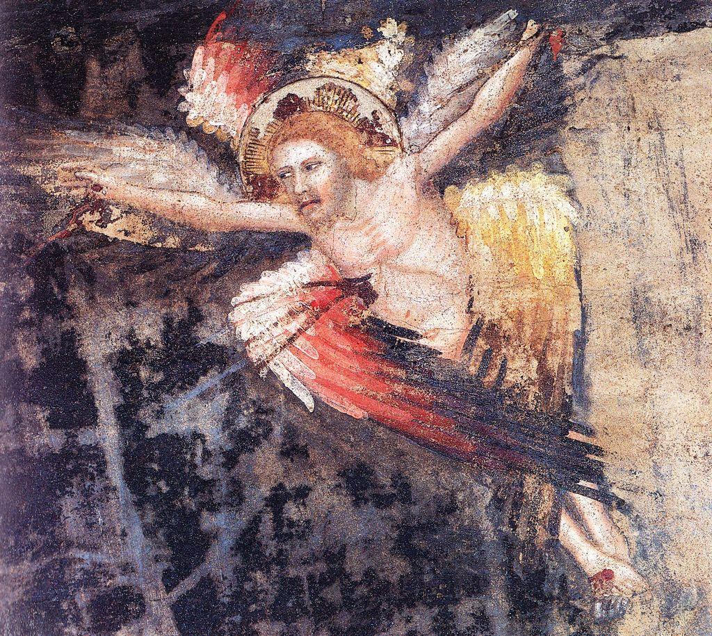 Francesco da Rimini - Cristo in forma di angelo - affresco - c. 1320-1330 Chiesa di San Francesco, Bologna