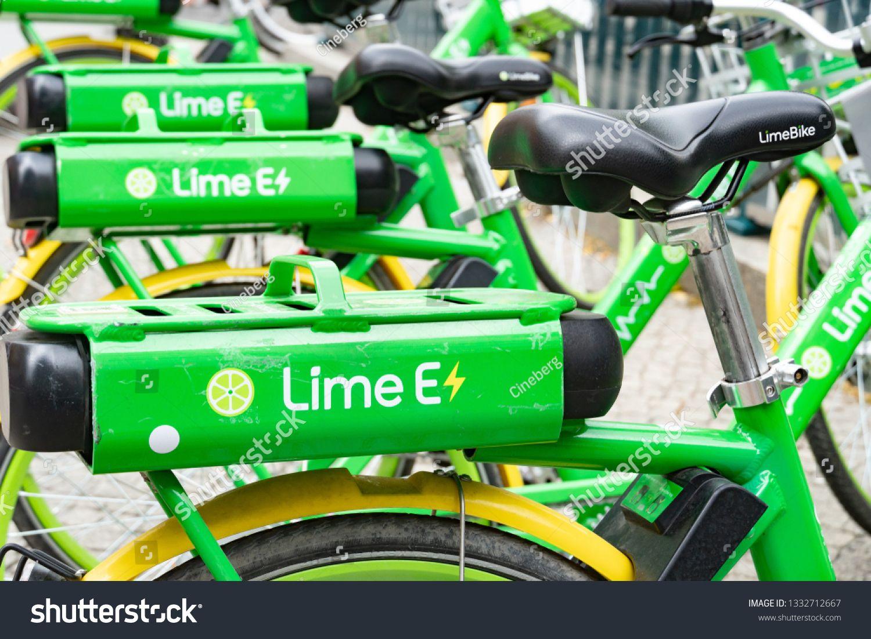Berlin Germany August 25 2018 Limebike Bicycle Lime Bike Is