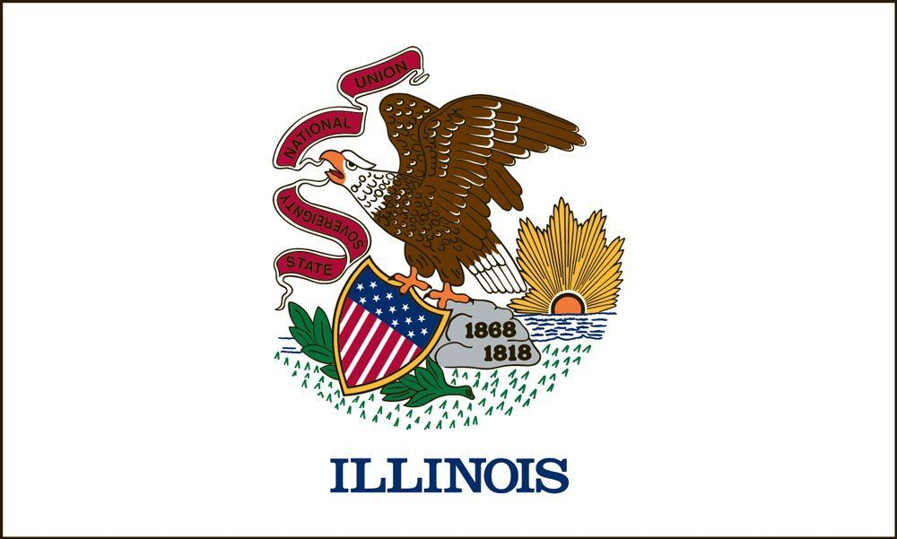 Illinois State Flag Coloring Pages | Illinois state, Flags and Route 66