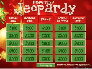Christmas Jeopardy.Christmas Jeopardy Christmas Resources Activities