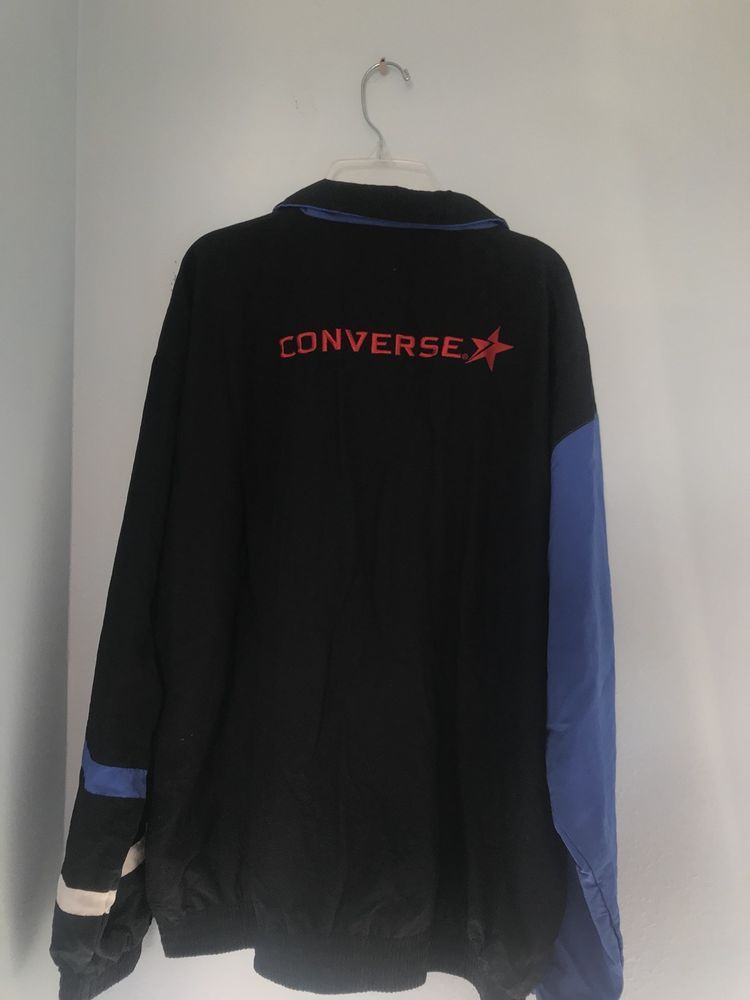 c6c6133b1112 VINTAGE Converse Windbreaker Jacket Adult Large Black Blue Spell Out Mens   fashion  clothing  shoes  accessories  mensclothing  coatsjackets (ebay  link)