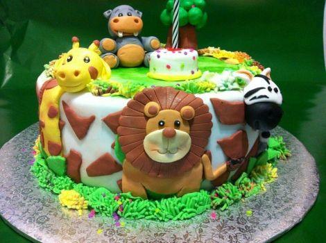 Tortas infantiles motivo selva buscar con google for Tortas decoradas infantiles