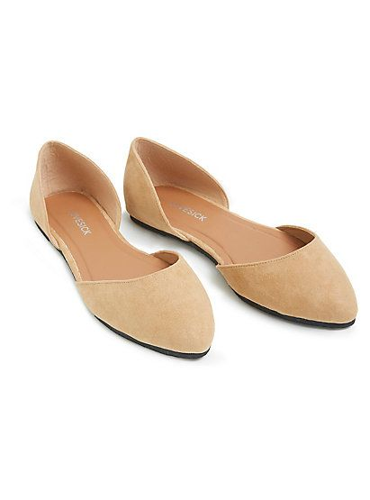 a58f94c3c35 Faux Suede D Orsay Flats (Wide Width)Faux Suede D Orsay Flats (Wide Width)