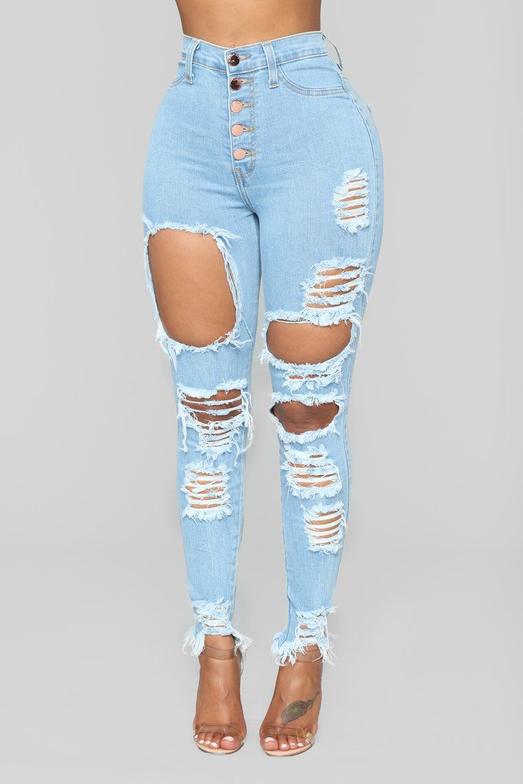 Alyse Distressed Jeans Medium   Cute ripped jeans, Womens