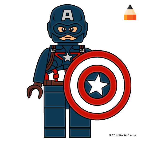How To Draw How To Draw Lego Captain America Art Drawing For Kids Captain America Art Captain America Drawing Captain America Coloring Pages