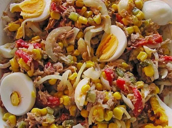 kalorienarmer thunfischsalat, mais thunfisch salat   rezept   rezepte   pinterest   salat, essen, Design ideen