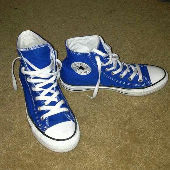 Blue#Chucks | Blue converse shoes