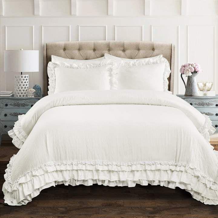 Lush Decor Ella Ruffle Lace Comforter Set