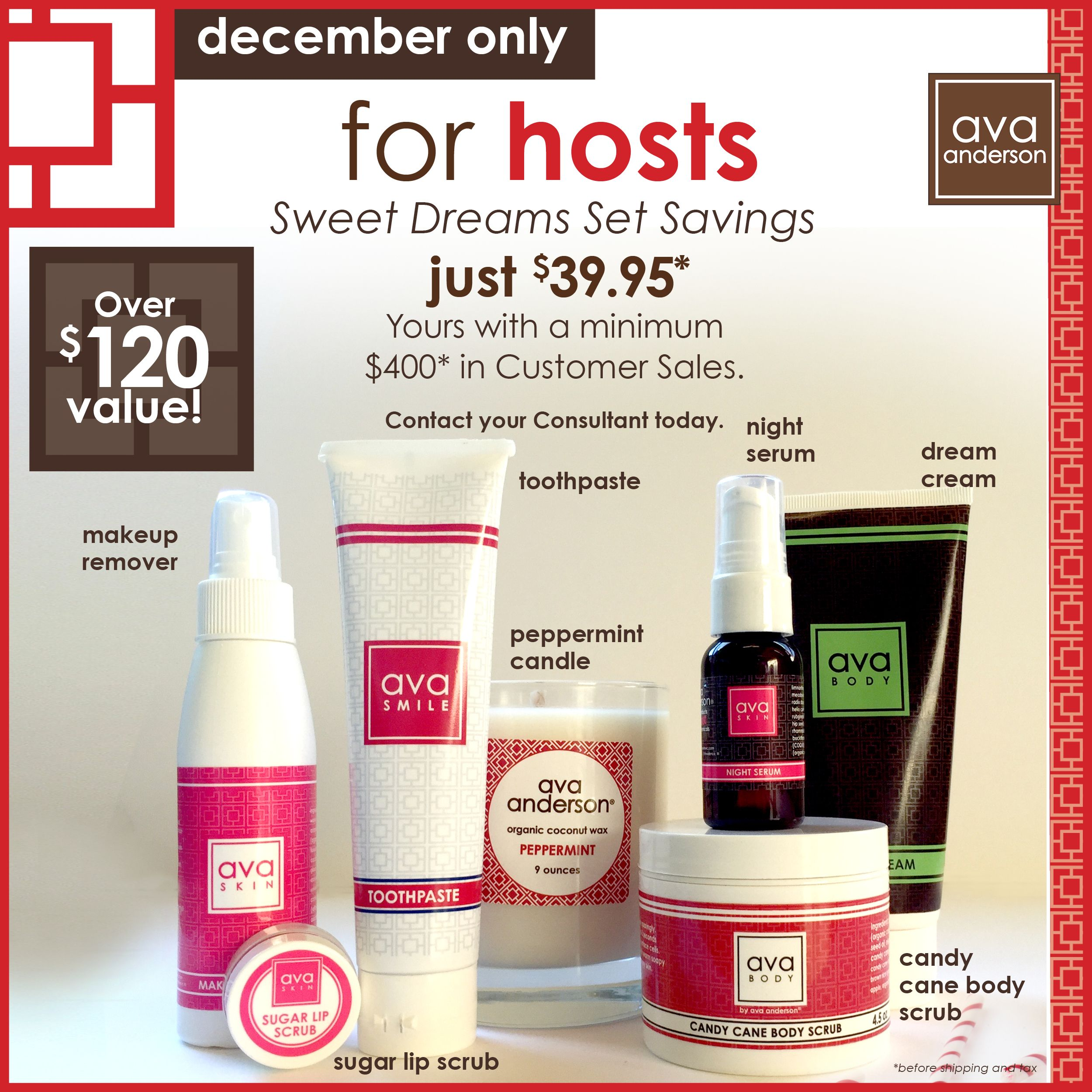 December avaHOUR = FREE and discounted items for you and
