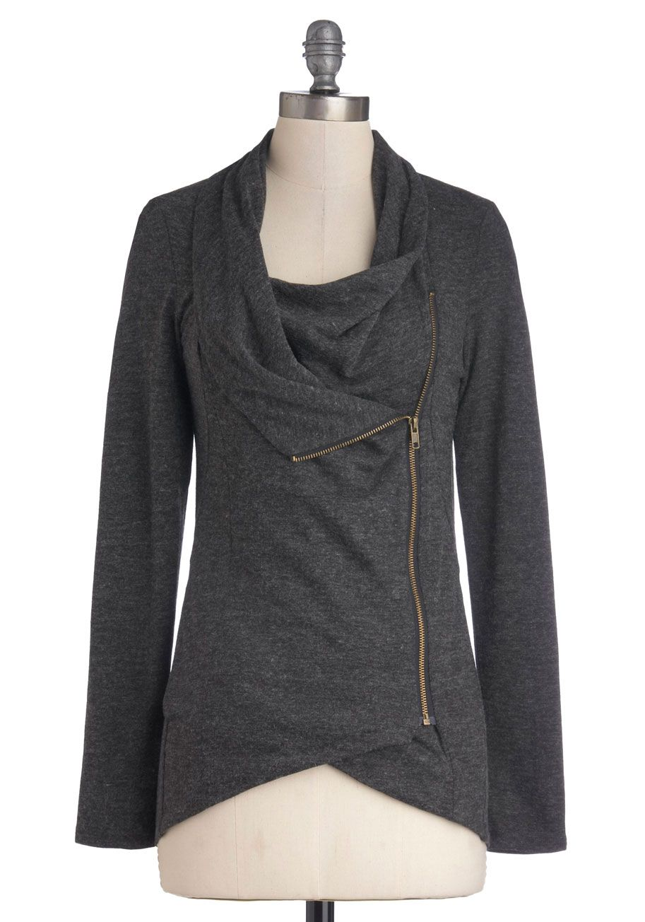 Airport Greeting Cardigan in Mustard | ModCloth, Gray and Grey ...