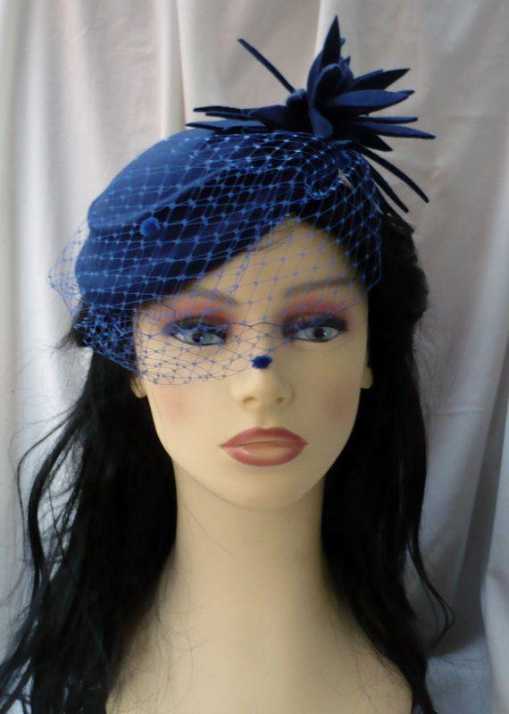 Sombrero estilo años 50 Sombrero estilo vintage por LidiaArtThings f11aa20f6d9