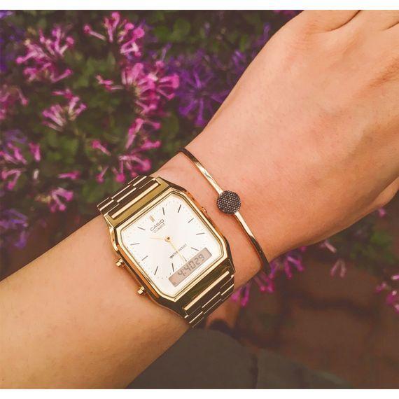 e2d335e64cd6 Relógio Casio Vintage Analógico Dourado • AQ-230GA-9DMQ • Laços de Filó -  lacosdefilo