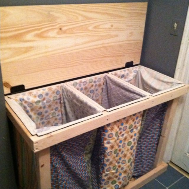 Homemade Laundry Hamper Great For The Space At The Top Of The