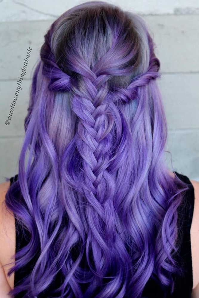 29 Inspirational Ideas To Braid Your Purple Hair |