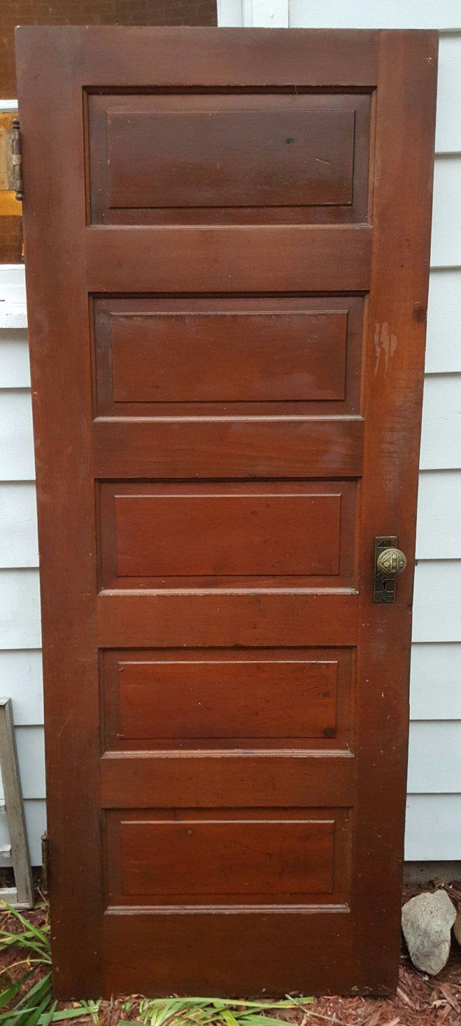 Old Wood Door, Antique, Interior Door, Building Supply, Architectural  Salvaged, 5 panel, Cottage, Reclaimed, Panel Door, Solid Wood D3 - Old Wood Door, Antique, Interior Door, Building Supply