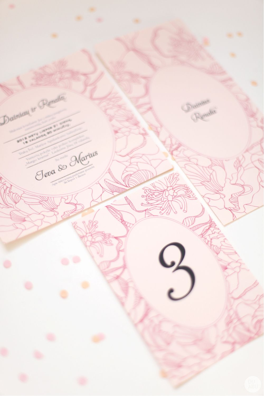 wedding invite // peonies // peonies invite // pink // by www.duabu.com