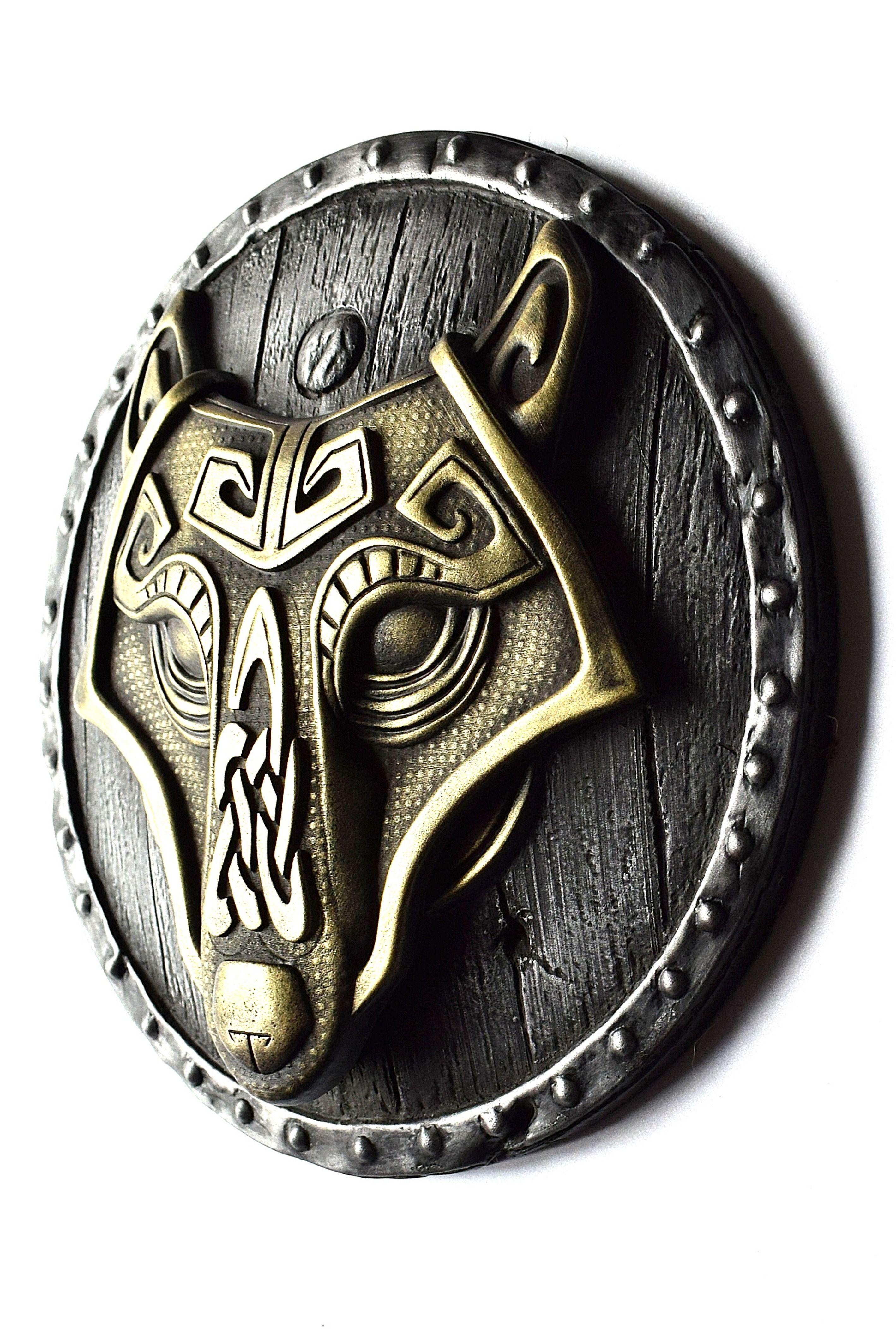 Wall Mount Relief Art Home Decor Boyfriend Gift Viking Decor Odins Ravens Huginn Muninn Norse  Celtic Knotwork Bronze Sculpture