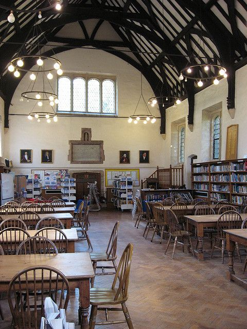 The library at The King's School, a private coeducational school in Canterbury, Kent, England.