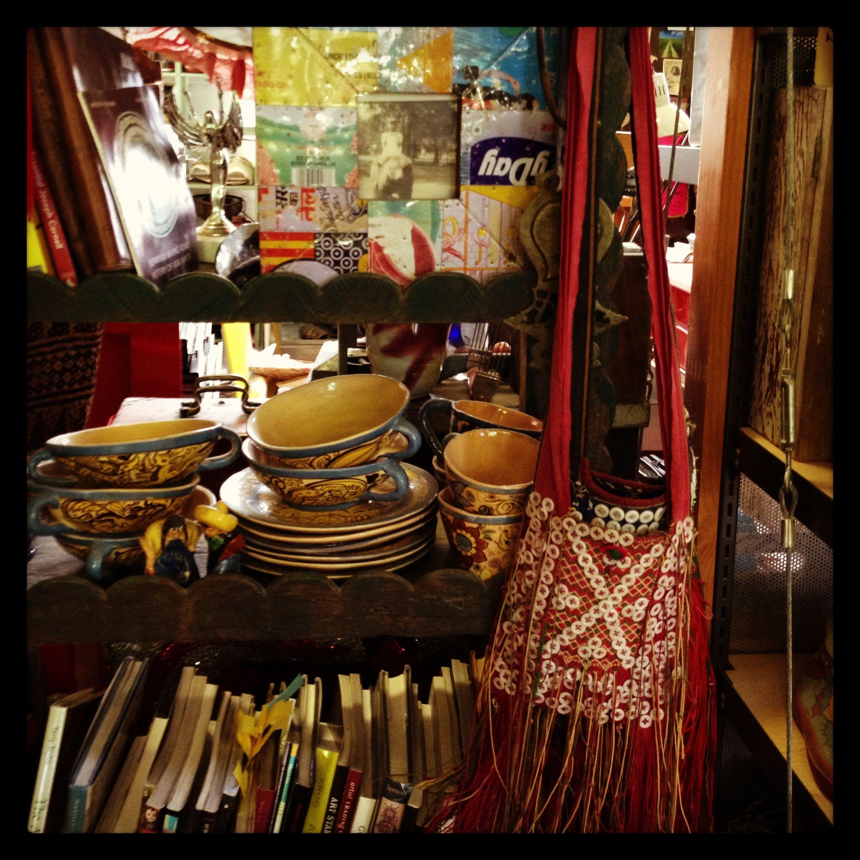 books and textiles, cargo house, portland