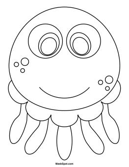 Jellyfish Mask to Color   Maschere bambini, Disegni da ...