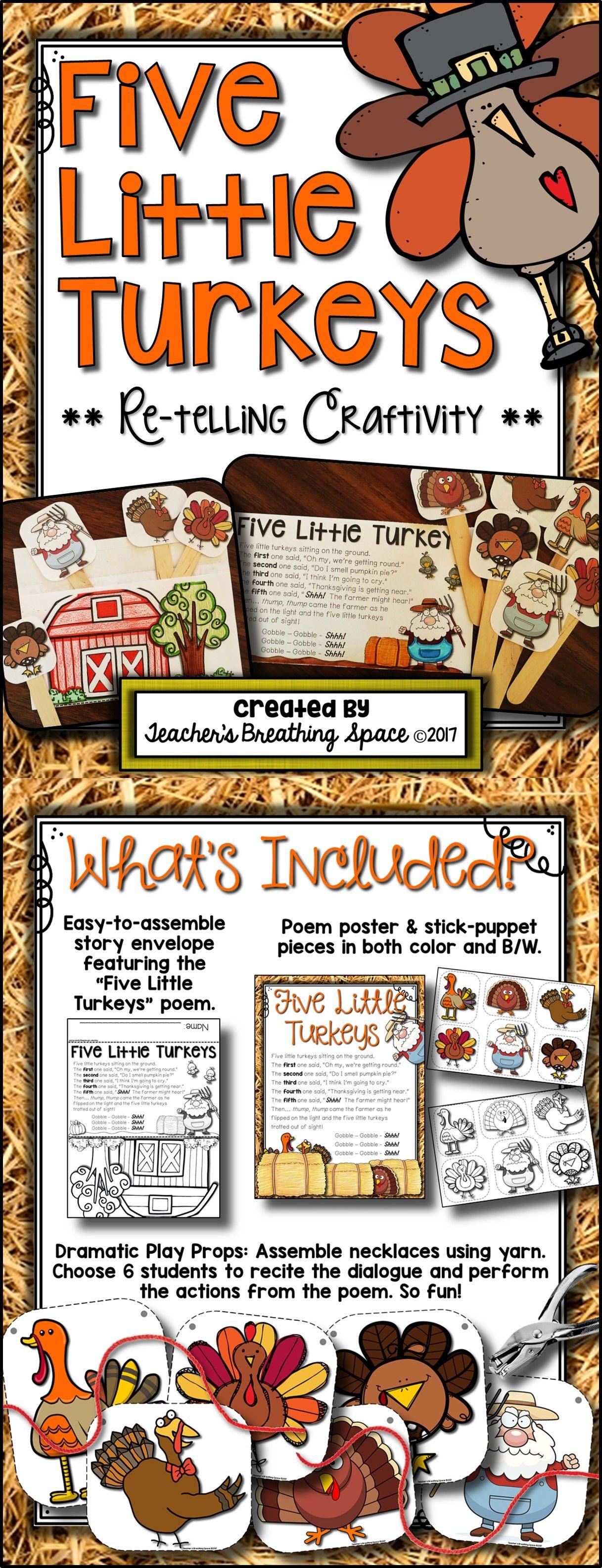 Five Little Turkeys Worksheet